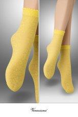 画像2: ショートストッキング(アニマル柄・イエロー)[ANIMAL 20 Socks giallo]※2足までメール便対象【送料無料・即日発送】 (2)