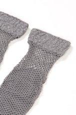 画像8: ショートストッキング(アニマル柄・網・グレー×シルバー)[AYA RETE Socks grey]※2足までメール便対象【送料無料・即日発送】 (8)