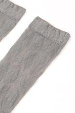 画像8: ショートストッキング(花柄・グレー)[FIORE Socks grey]※2足までメール便対象【送料無料・即日発送】 (8)