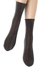画像4: ショートストッキング(ラメ・ブラック×シルバー)[FLAVIA Socks nero/argento]※2足までメール便対象【送料無料・即日発送】 (4)
