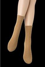 画像5: ショートストッキング(ラメ・ベージュ×ゴールド)[FLAVIA Socks beige]※2足までメール便対象【送料無料・即日発送】 (5)