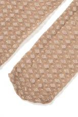 画像8: ショートストッキング(ダイヤ柄・ヌードベージュ)[JENNY Socks nude]※2足までメール便対象【送料無料・即日発送】 (8)