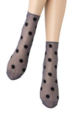 画像4: ショートストッキング(ドット柄・ブルー×ブラック)[KYLIE Socks jeans]※2足までメール便対象【送料無料・即日発送】 (4)