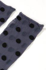 画像7: ショートストッキング(ドット柄・ブルー×ブラック)[KYLIE Socks jeans]※2足までメール便対象【送料無料・即日発送】 (7)