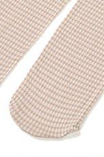 画像7: ショートストッキング(チェック柄・フリル・ベージュ×ホワイト)[LISETTA Socks nude]※2足までメール便対象【送料無料・即日発送】 (7)