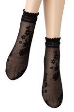 画像4: ショートストッキング(花柄・ブラック)[MAXIMA Socks nero]※2足までメール便対象【送料無料・即日発送】 (4)
