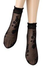 画像5: ショートストッキング(花柄・ブラック)[MAXIMA Socks nero]※2足までメール便対象【送料無料・即日発送】 (5)