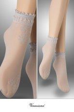 画像2: ショートストッキング(花柄・グレー)[MAXIMA Socks argento]※2足までメール便対象【送料無料・即日発送】 (2)