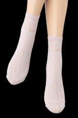 画像5: ショートストッキング(花柄・ラベンダー)[SALMA Socks lilla]※2足までメール便対象【送料無料・即日発送】 (5)