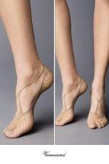 画像2: フットカバー(網・ベージュ)[BERESCA Foot naturale]※2足までメール便対象【送料無料・即日発送】 (2)