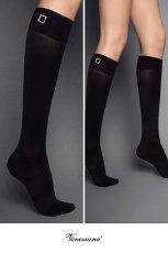 画像2: ハイソックス(無地・ビジュー・ブラック)[FIBBIA STRASS High-Socks nero]※2足までメール便対象【送料無料・即日発送】 (2)