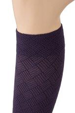 画像3: ハイソックス(ダイヤ柄・バスケットチェック・パープル)[MOSAICO High-Socks violet]※2足までメール便対象【送料無料・即日発送】 (3)