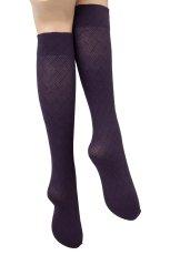 画像6: ハイソックス(ダイヤ柄・バスケットチェック・パープル)[MOSAICO High-Socks violet]※2足までメール便対象【送料無料・即日発送】 (6)