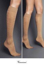 画像2: ハイソックス(ダイヤ柄・バスケットチェック・ベージュ)[MOSAICO High-Socks visone]※2足までメール便対象【送料無料・即日発送】 (2)