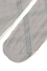 画像8: ハイソックス(ストライプ・グレー×シルバー)[SPIGA LUREX High-Socks grigio-silver]※2足までメール便対象【送料無料・即日発送】 (8)