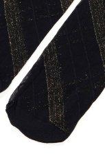 画像8: ハイソックス(ストライプ・ブラック×ゴールド)[SPIGA LUREX High-Socks nero]※2足までメール便対象【送料無料・即日発送】 (8)