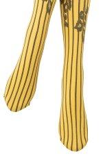 画像4: ハイソックス(花柄・ストライプ・イエロー×ブラック)[YVONNE High-Socks limone-nero]※2足までメール便対象【送料無料・即日発送】 (4)