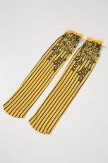 画像8: ハイソックス(花柄・ストライプ・イエロー×ブラック)[YVONNE High-Socks limone-nero]※2足までメール便対象【送料無料・即日発送】 (8)