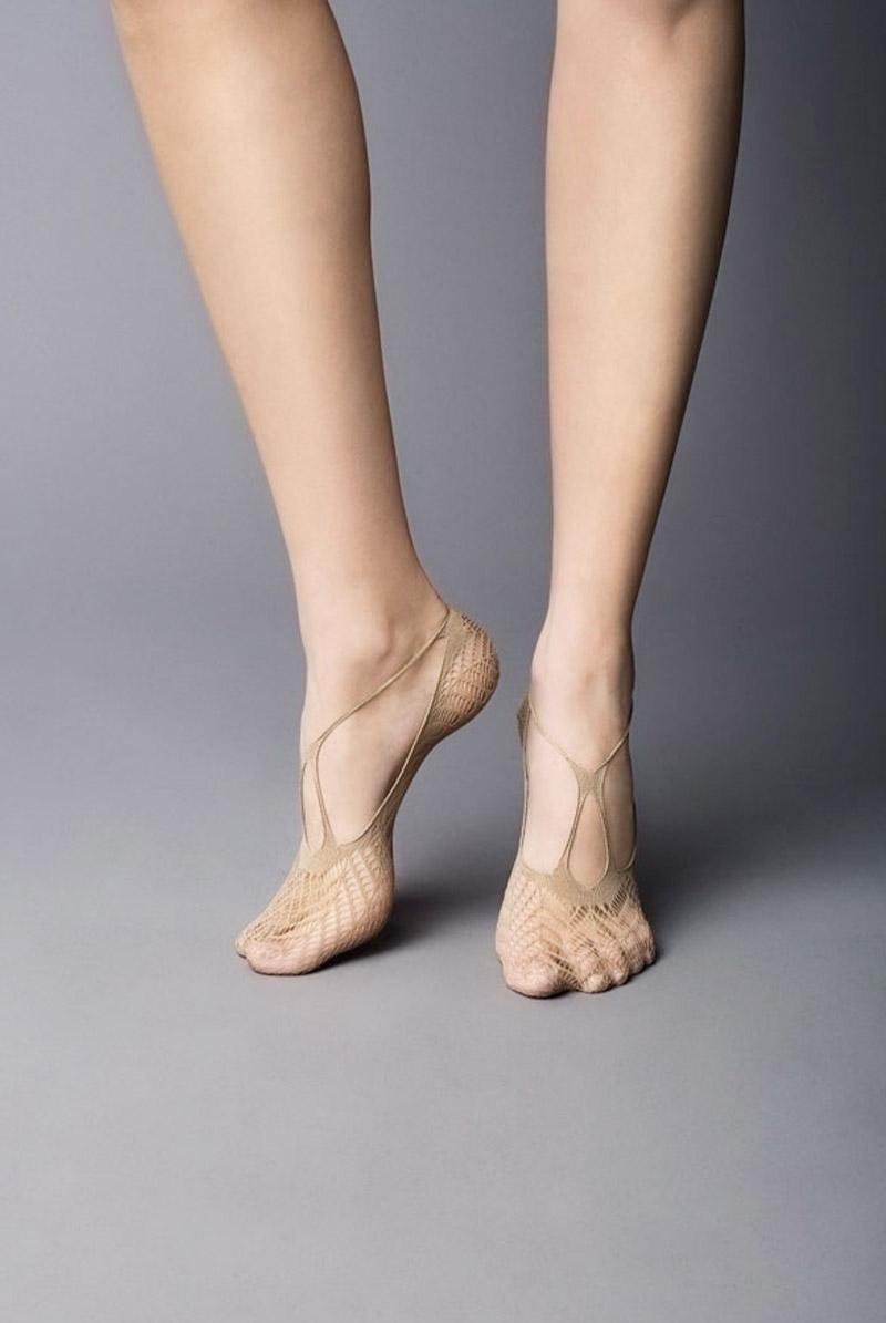 画像1: フットカバー(網・ベージュ)[BERESCA Foot naturale]※2足までメール便対象【送料無料・即日発送】 (1)